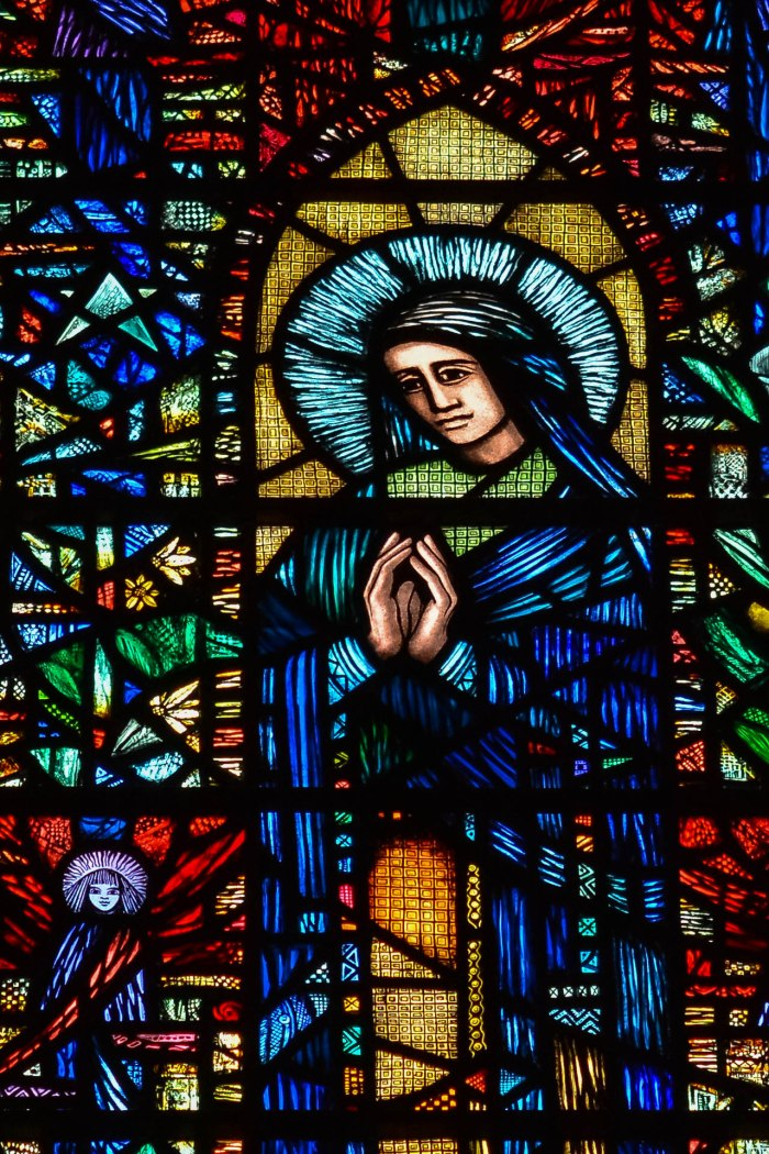 Mary made of glass - St. Albans, UK (Worldwide Photo Walk)