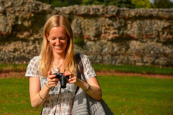 Mrs B 'chimping' as we go  - St. Albans, UK (Worldwide Photo Walk)