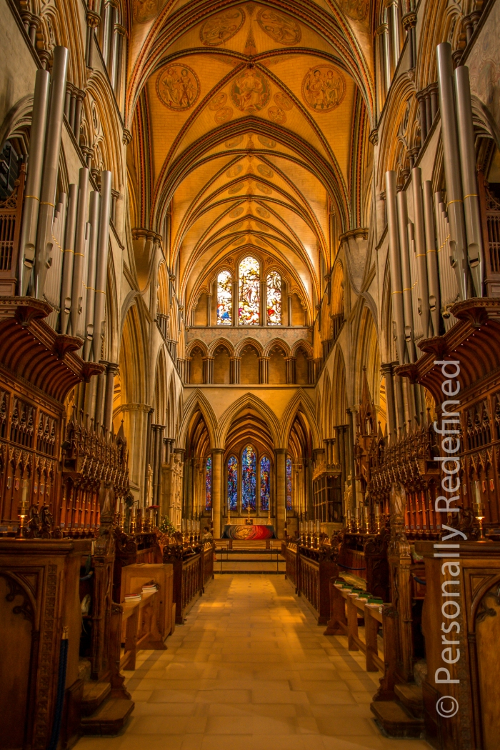 The length of a cathedral - Salisbury, Wiltshire